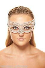 Luxury Crystal Masquerade Mask Venetian Swarovski Laser Cut Mask Wedding Prom