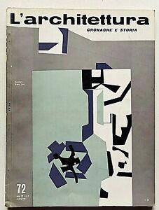 L'architettura cronache e storia 72 1961 Bruno Zevi Pietro Aschieri Maiakovski