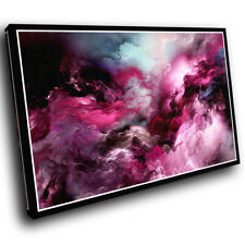 Pink Blue Black Cool Abstract Canvas Wall Art Large Picture Prints