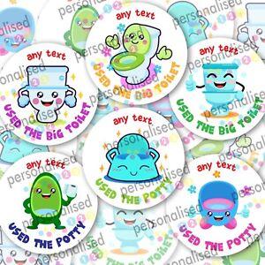 Personalised Toilet Training Stickers Potty Reward Labels Boy Girl Children Kids