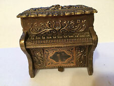"""Vintage Mele Piano Music Box Made in Japan , Metal , """"A Time For Us"""" Mid-Century"""