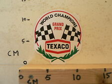 STICKER,DECAL TEXACO WORLD CHAMPIONS GRAND PRIX FINISH FLAG F1 FORMULA ONE ? D