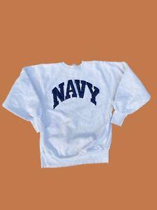 Vtg US Navy Champion Reverse Weave Sweatshirt Size Large