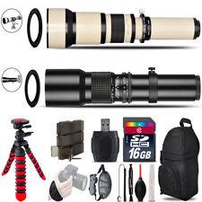 500mm-1300mm Telephoto Lens for 5D Mark IV + Flexible Tripod & More - 16GB Kit