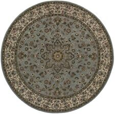 Brand New Traditional Gray 8X8 Agra Wool Hand Tufted Oriental Round Rug Carpet