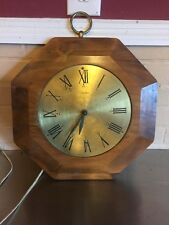 Vintage United Wooden Hanging Clock - Not In Working Order For Parts It To Fix