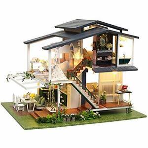 Puppenhaus Puppenstube Miniatur Haus Puppenmöbel 1:24 LED Licht DIY Set B-WARE