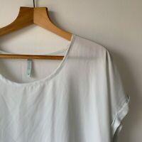 Womens Maya Tie Dye T Shirt Blouse Size 18 Floaty Short Sleeve Summer Holiday
