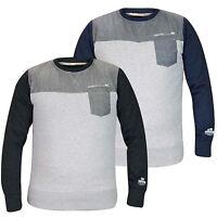 Men Long Sleeve Sweatshirt Crew Neck Crosshatch Designer Pocket Fleece Shirt Top