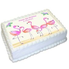 Pink Flamingo A4 Edible Icing Cake Topper