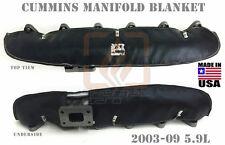 BLACK EXHAUST MANIFOLD BLANKET FOR 2003 - 2009 DODGE CUMMINS 5.9 DIESEL CR TURBO
