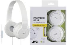 Auricolari e cuffie bianche audio portatile con microfono