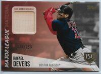2019 Topps Update Rafael Devers Major League Material Bat Relic #'d 070/150 SP