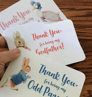THANK YOU card & envelope, Gift, Godmother, Odd Parent, Christening / Naming Day