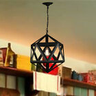 Black Chandelier Lighting Bar Lamp Vintage Pendant Light Kitchen Ceiling Lights