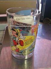 2002 McDonald's 100 Years of Magic Disney Glass Bambi Tinkerbell Pinocchio Dumbo