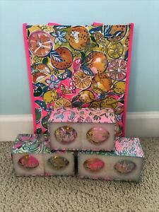 Lilly Pulitzer GWP Christmas Ornaments New Favorite Things, Mermaid Set