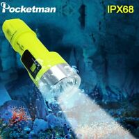 IPX8 T6 Led Diving Flashlight Torch Diving Torch Underwater Dive Light Lantern