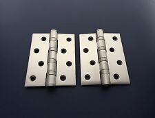 10 Door  Hinges (5 pairs) - Stainless Steel 100 x 75 x 3mm