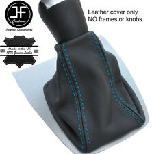 Blue Stitch Top Grain REAL LEATHER GEAR GAITER FITS FORD FOCUS C MAX 2003-2007