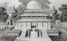 AccueiIIera respectueuse de l'empereur devant les tombeaux Chine 1837 Chine