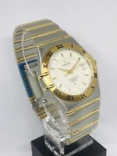 Omega Constellation Perpetual Calendar Full Bar Steel/gold Watch With Box/cards