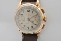 Sexima vintage 1950 18K pink gold chronograph 36mm Landeron 48 exc+++++