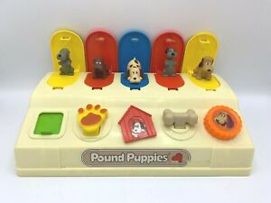 Vintage Pound Puppies Pop Up Preschool Toy 1986 Illco Tonka 1986