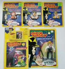 Dick Tracy Coppers Gangsters Action Figure and Magnets Comic Cassette Lot New