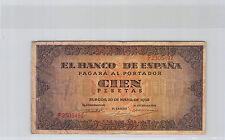 ESPAGNE 100 PESETAS 20.5.1938 N° F2305492 PICK 113a