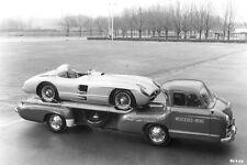 Mercedes-Benz racing car transporter & 300 SLR in 1955 – W 196 S 1955 Mercedes50