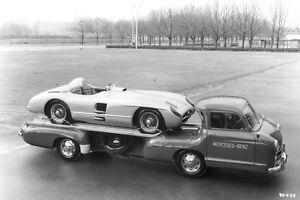 Mercedes-Benz racing car transporter & 300 SLR in 1955 – W 196 S 1955 Mercedes 5