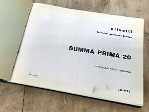 Vtg OLIVETTI SUMMA PRIMA Calculator Adjustment Manual Adding Machine Book