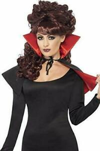 Mini Vamp Cape, Black & Red, with High Collar - New in Packaging