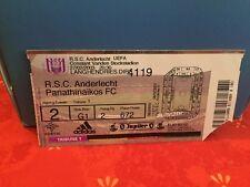 Football Ticket -  RSCA Anderlecht - Panathinaikos FC - 2003