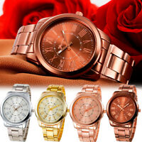 Luxury Womens Ladies Watch Bracelet Stainless Steel Analog Quartz Wrist Watch UK