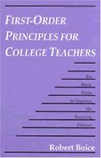 First-Order Principles for College Teachers: Ten Basic Ways to Improve the Teach
