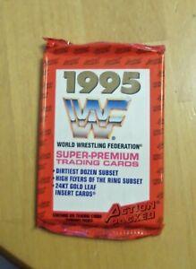 1995 ACTION PACKED UNOPENED WRESTLING PACK - UNDERTAKER WWE WWF GOLD LEAF