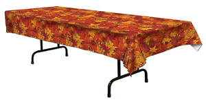 FALL LEAF TABLE COVER  54 inch x 108 inch 1 PC.PLASTIC
