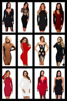Dress Mini Bodycon Womens Ladies UK Size 6 14 Party Dresses Long Evening Sleeve