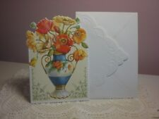 Carol's Rose Garden - Get Well Soon - Blue Vase of Red & Yellow Flowers on cover