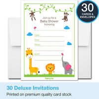 30 Baby Shower Invitations Boy or Girl (with Envelopes) - Decorations Supplies