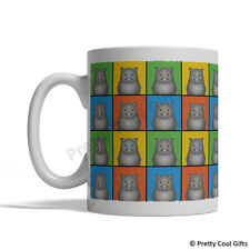 Scottish Fold Cat Mug - Cartoon Pop-Art Coffee Tea Cup 11oz Ceramic