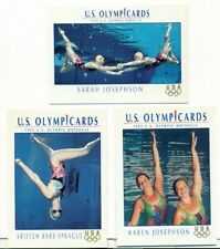 U.S. OLYMPICARDS - 1992 - SYNCHRONIZED SWIMMING INSERT TRADING CARD LOT -3 CARDS