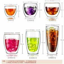 Heat-resistant Double Wall Glass Cup Beer Coffee Cup Handmade Tea Drink-ware Mug