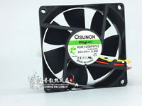 For SUNON KDE1208PKV3 MS.AF.GN 8020 DC12V 0.8W 80x80x20mm 3Pin Cooling Fan