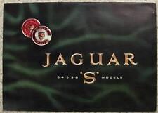 JAGUAR 3.4 & 3.8 S MODELS Car Sales Brochure c1965