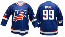 Team USA BLUE Ice Hockey Jersey Custom Name and Number