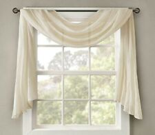 "Madison Park Sheer Window scarf  in Cream  42"" x 144"""