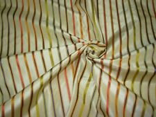 """BTY~FAUX SILK """" EMBROIDERED STRIPES"""" ~ DRAPERY UPHOLSTERY FABRIC FOR LESS"""